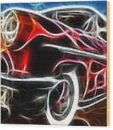 All American Hot Rod Wood Print