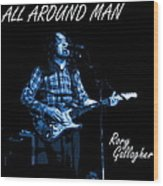 All Around Man Blues Square Wood Print