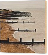 All Hallows Beach Wood Print