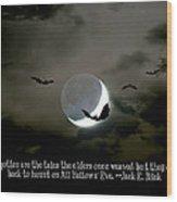 All Hallows' Eve Wood Print