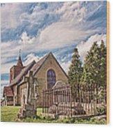 All Saints Tudeley Wood Print