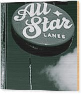 All Star Lanes Wood Print by Jez C Self