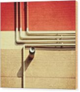 All That Jazz #geometry #color #pipes Wood Print