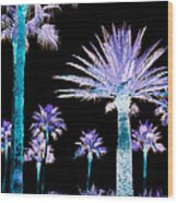 All The Palms Wood Print