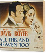 All This And Heaven Too, Charles Boyer Wood Print