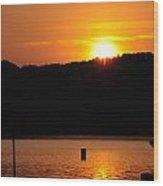 Allatoona Sunset Wood Print