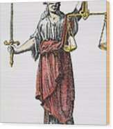 Allegory: Justice, 1726. Line Engraving (detail), German Wood Print