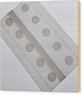 Allergy Patch Test Wood Print