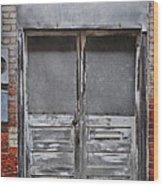 Alley Doors Wood Print