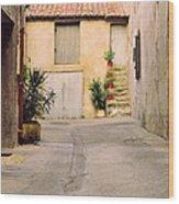 Alley In Arles France Wood Print