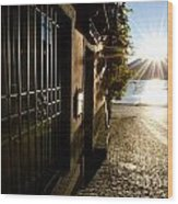 Alley With Sunshine Wood Print