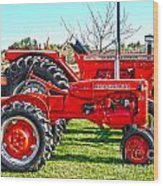 Allis-chalmers Tractors Wood Print
