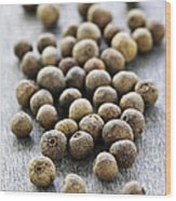 Allspice Berries Wood Print