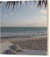 Alluring Tropical Beach Wood Print