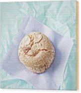Almond Cookies Wood Print