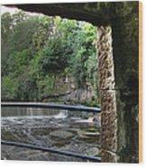 Almond River Step-door  Wood Print