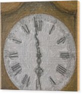 Almost Six O'clock Wood Print