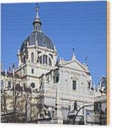 Almudena Cathedral In Madrid Wood Print