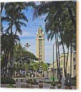 Aloha Tower II Wood Print