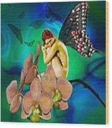 Alone I Wait Wood Print by Diana Shively