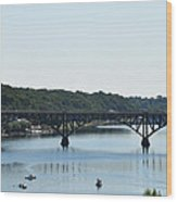 Along The Schuylkill River At Strawberry Mansion Wood Print