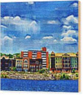 Along The Tennessee River In Decatur Alabama Wood Print