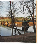 Alongside The Uhlerstown Frenchtown Bridge Wood Print