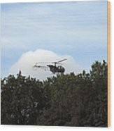 Alouette II Of The Belgian Army Wood Print by Luc De Jaeger