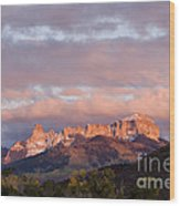 Alpenglow On The Cimarron Mountains - D003083a Wood Print