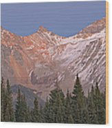 Alpenglow San Juan Mountains Wood Print