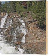 Alpine Creek Falls Lake Tahoe Wood Print