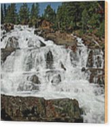 Alpine Falls Glen Alpine Falls Lake Tahoe Wood Print