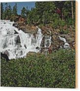 Alpine Falls Lake Tahoe II Wood Print