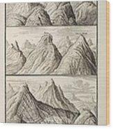 Alpine Geology Flood Evidence Scheuchzer. Wood Print