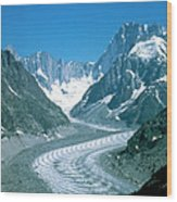 Alpine Glacier Wood Print