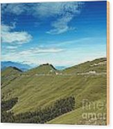 Alpine High Altitude Road In Taiwan Wood Print