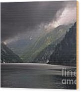 Alpine Lake With Sunlight Wood Print by Mats Silvan