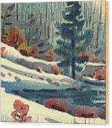 Alpine Meadow Wood Print