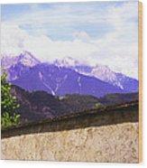 Alpine Wall Wood Print