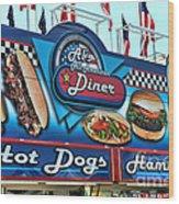 Al's All American Diner Wood Print