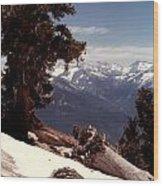 Alta Peak Wood Print