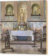 Altar At Mission La Purisima State Wood Print