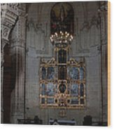 Altar Shadowed And Shining Wood Print