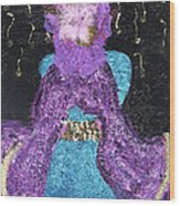 Althea Survives Wood Print by Annette McElhiney
