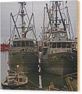 Aluminum Fishing Boats Wood Print