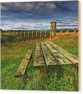 Alwen Reservoir Wood Print