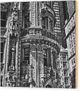 Alwyn Court Building Detail 25 Wood Print