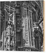 Alwyn Court Building Detail 30 Wood Print
