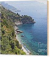 Amalfi Coast At Conca Dei Marini Wood Print