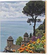 Amalfi Coast Spring Vista Wood Print
